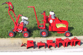 Edgemaster has many Equipment Packages and Options starting with the basics seen here. EM800 landscape curbing machine with six industry standard profiles and trowels and our EdgePrep turf cutter. Add in our EdgeMixer, curbing accessories, curbing stamps, essential tools and custom landscape Curbing trailer and you are ready for business!