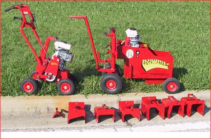 Edgemaster Concrete Curb Machine Leads The Curbing